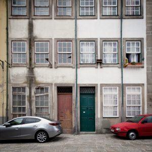 Façade d'un des bâtiments démonstrateurs avant la rénovation dans le cadre du projet Ener'pat à Cahors